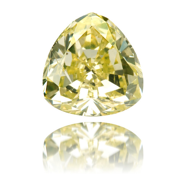 Natural Green Diamond Triangle 1.03 ct Polished