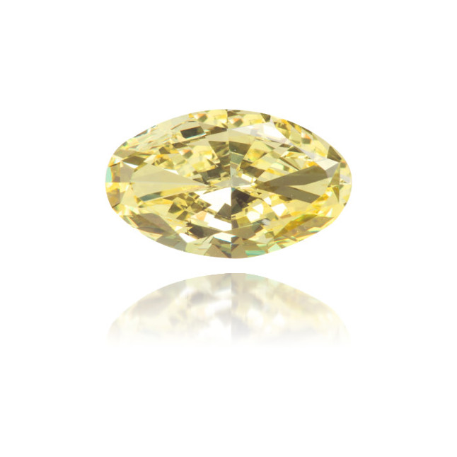 Natural Yellow Diamond Oval 1.04 ct Polished