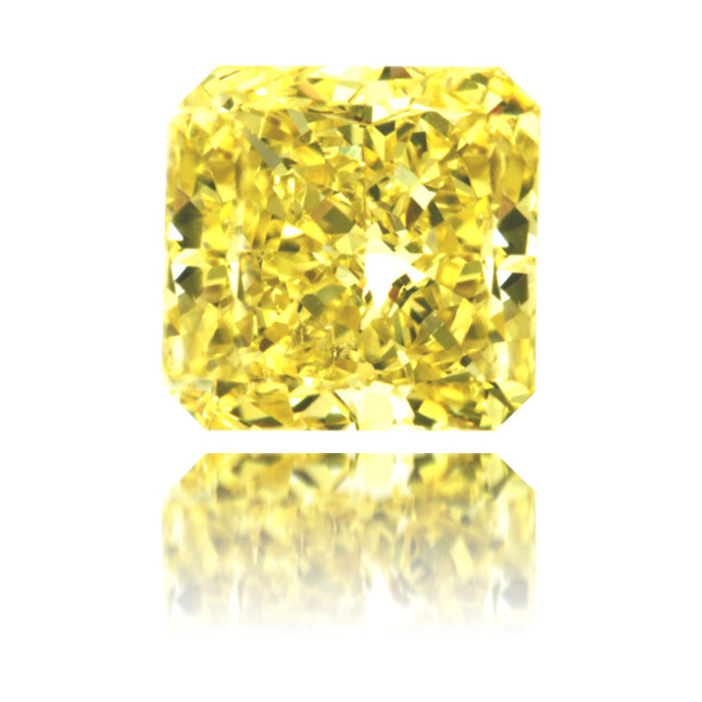 Natural Yellow Diamond Square 1.10 ct Polished