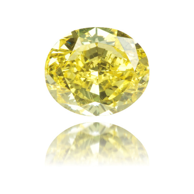 Natural Yellow Diamond Cushion 1.13 ct Polished