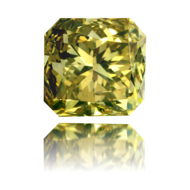 Natural Green Diamond Square 1.13 ct Polished