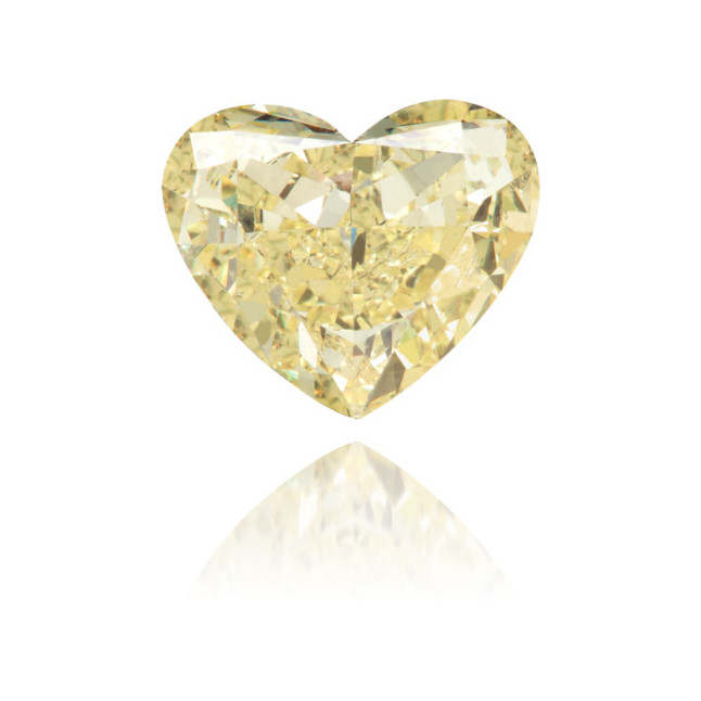 Natural Yellow Diamond Heart Shape 1.14 ct Polished
