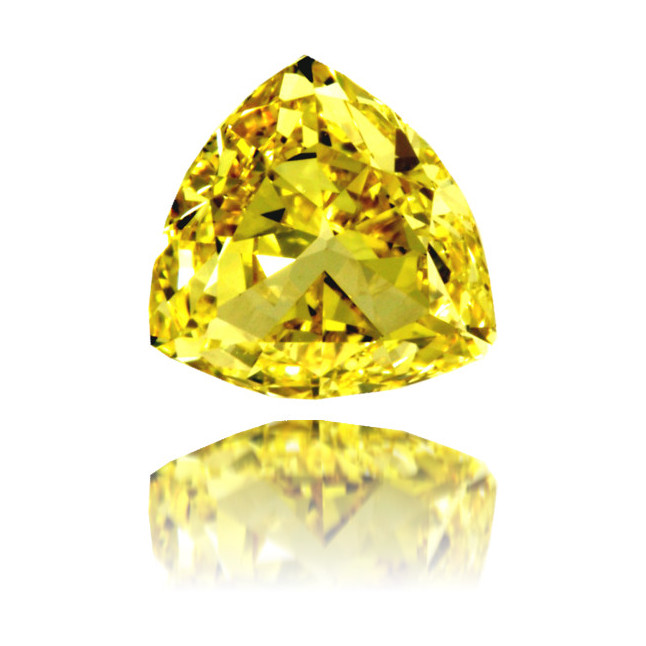 Natural Yellow Diamond Triangle 1.14 ct Polished