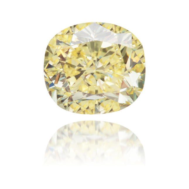 Natural Yellow Diamond Cushion 1.15 ct Polished