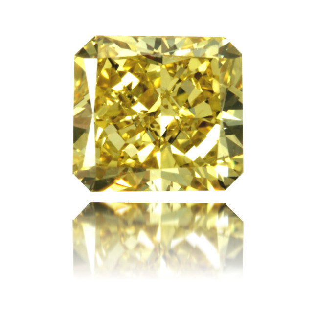 Natural Yellow Diamond Square 1.17 ct Polished