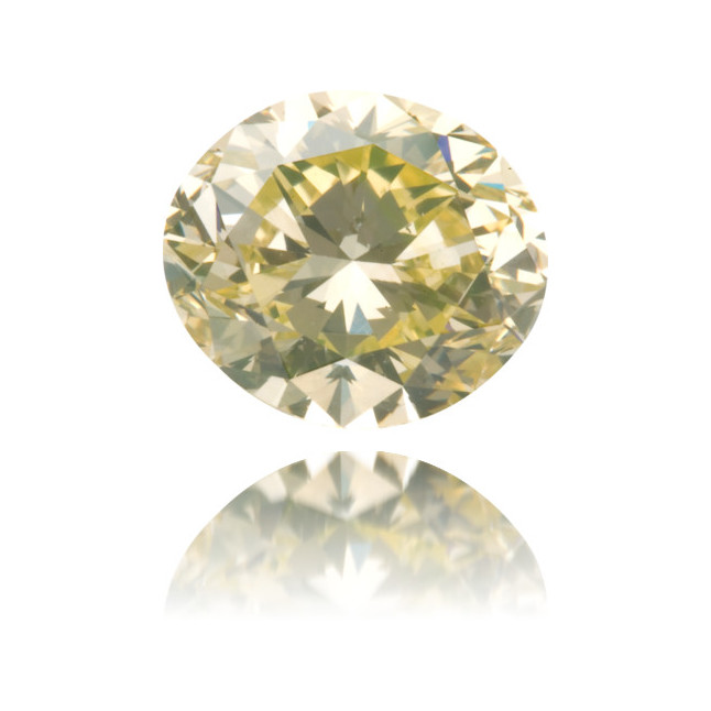 Natural Yellow Diamond Oval 1.24 ct Polished