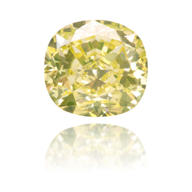 Natural Yellow Diamond Cushion 1.24 ct Polished
