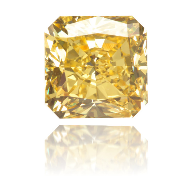 Natural Yellow Diamond Square 1.53 ct Polished