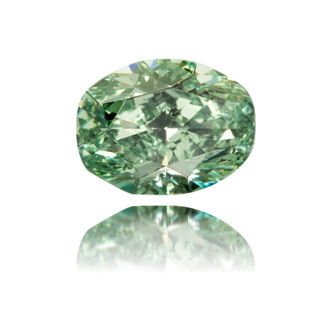 Natural Green Diamond Cushion 1.66 ct Polished