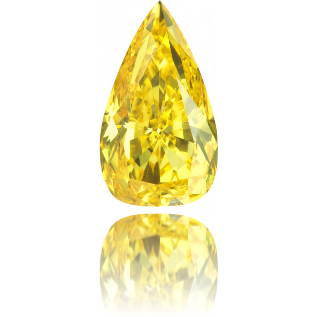 Natural Yellow Diamond Pear Shape 1.93 ct Polished