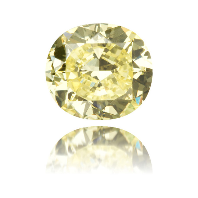Natural Yellow Diamond Cushion 2.08 ct Polished