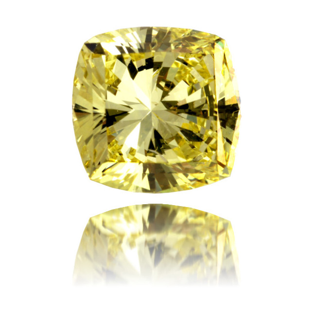 Natural Yellow Diamond Square 2.19 ct Polished