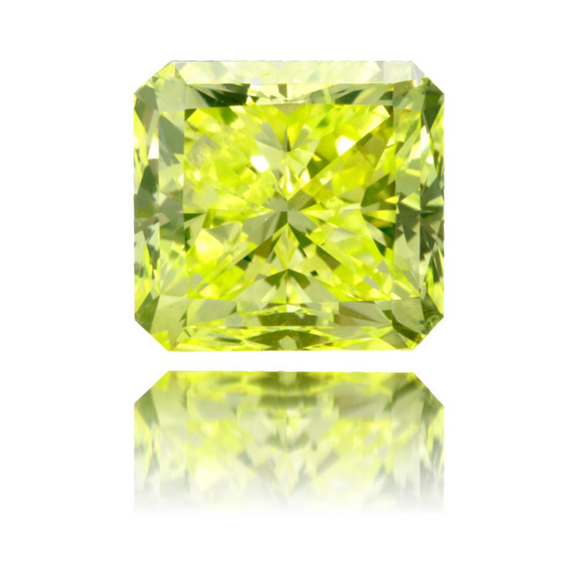 Natural Green Diamond Square 2.73 ct Polished