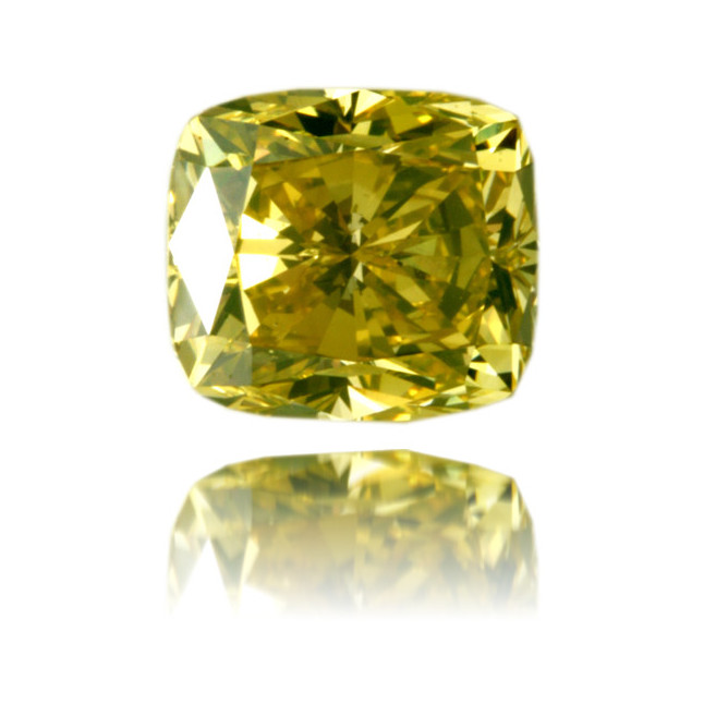 Natural Yellow Diamond Square 3.12 ct Polished
