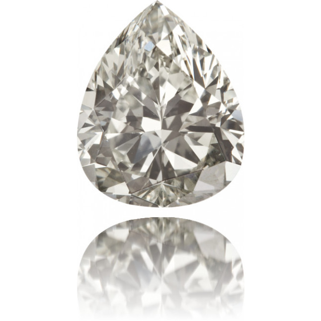 Natural Gray Diamond Pear Shape 3.91 ct Polished