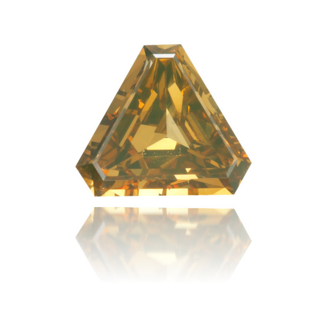 Natural Orange Diamond Triangle 0.31 ct Polished