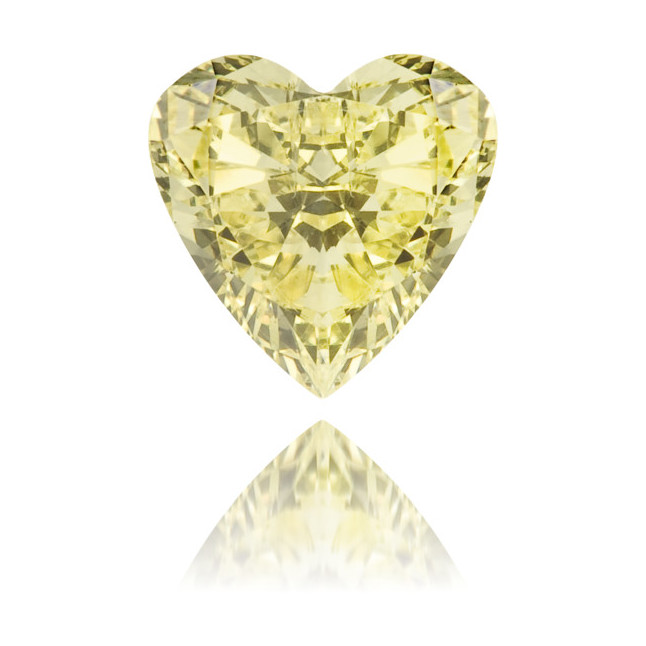 Natural Yellow Diamond Heart Shape 0.33 ct Polished