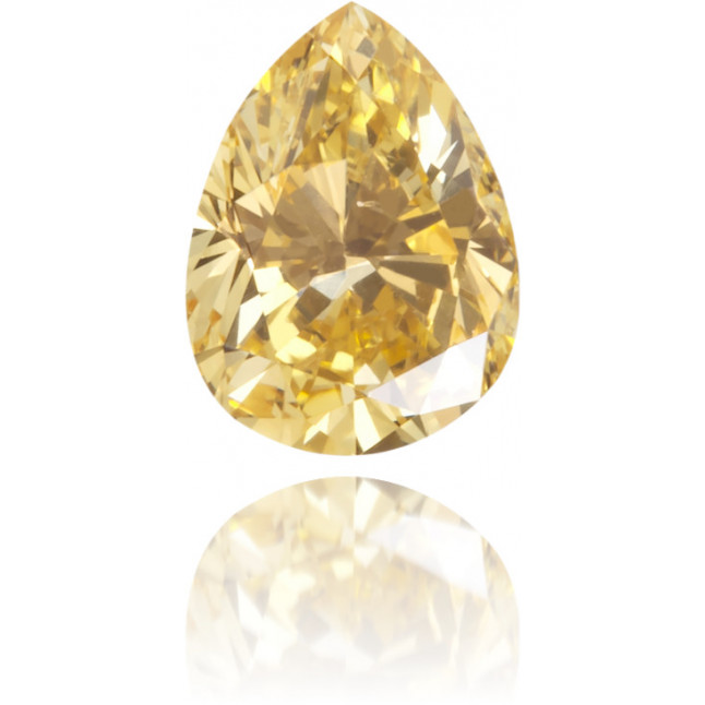 Natural Orange Diamond Pear Shape 0.23 ct Polished