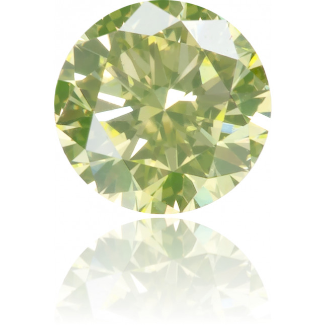 Natural Green Diamond Round 0.19 ct Polished