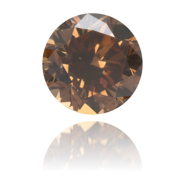 Natural Brown Diamond Round 0.46 ct Polished