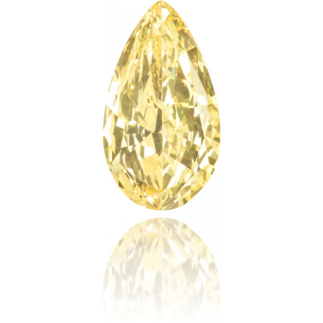 Natural Yellow Diamond Pear Shape 1.00 ct Polished