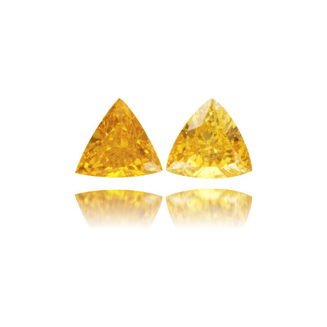 Natural Orange Diamond Triangle 0.52 ct Set