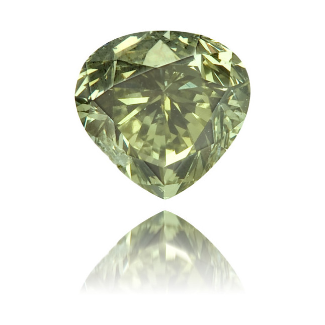Natural Chameleon Diamond Heart Shape 0.36 ct Polished