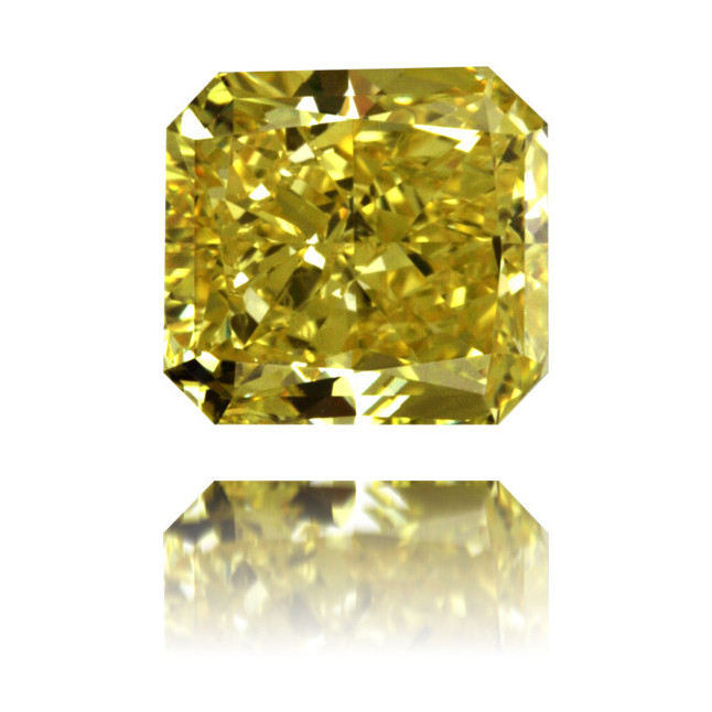 Natural Yellow Diamond Square 2.51 ct Polished