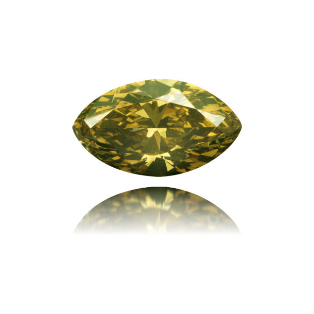 Natural Green Diamond Marquise 2.43 ct Polished