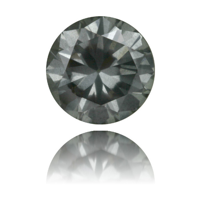 Natural Gray Diamond Round 1.79 ct Polished