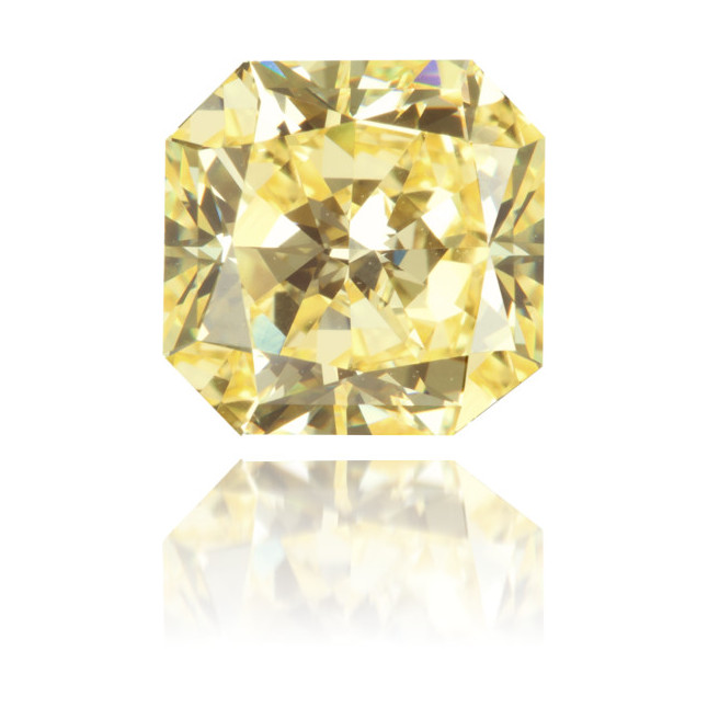 Natural Yellow Diamond Square 3.11 ct Polished