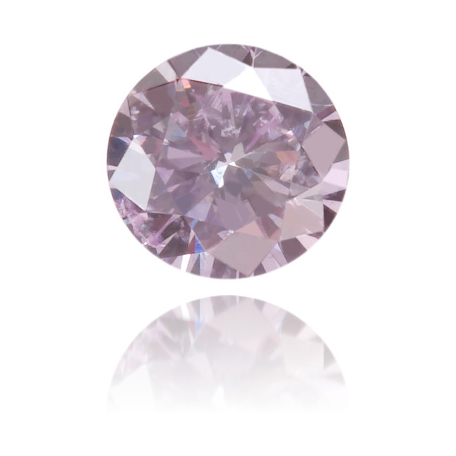 Natural Purple Diamond Round 0.13 ct Polished