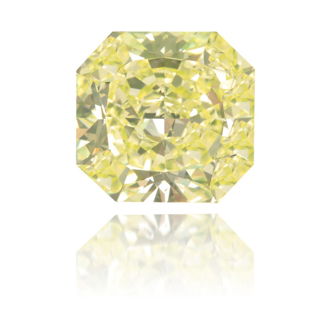 Natural Green Diamond Square 3.45 ct Polished