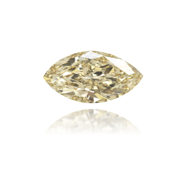 Natural Yellow Diamond Marquise 0.67 ct Polished