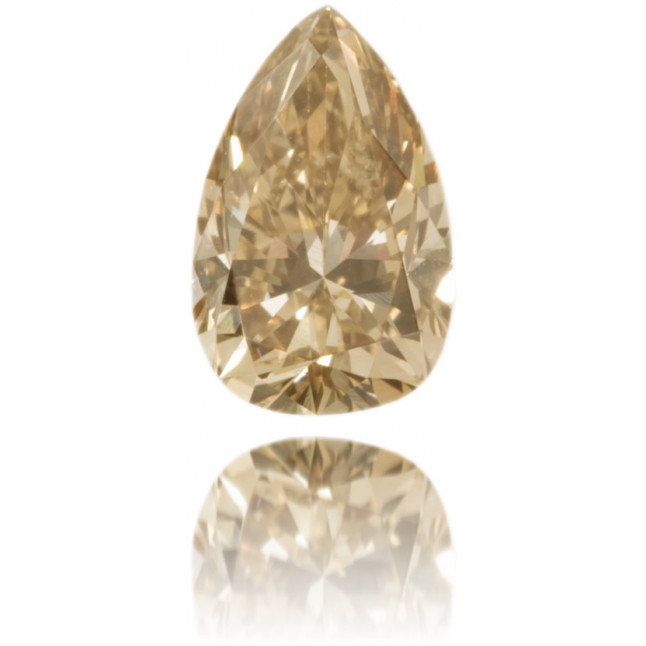 Natural Brown Diamond Pear Shape 0.83 ct Polished