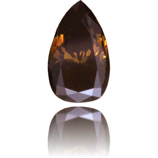 Natural Brown Diamond Pear Shape 0.64 ct Polished