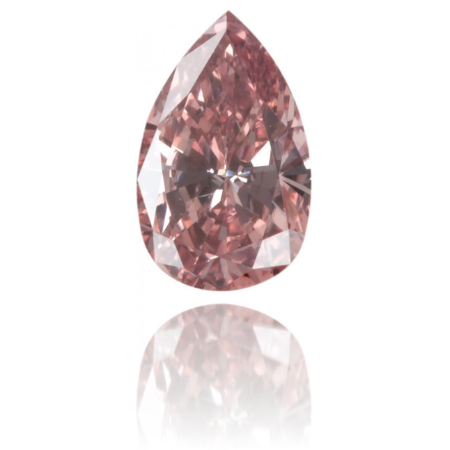 Natural Pink Diamond Pear Shape 0.21 ct Polished