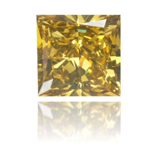 Natural Green Diamond Square 0.61 ct Polished