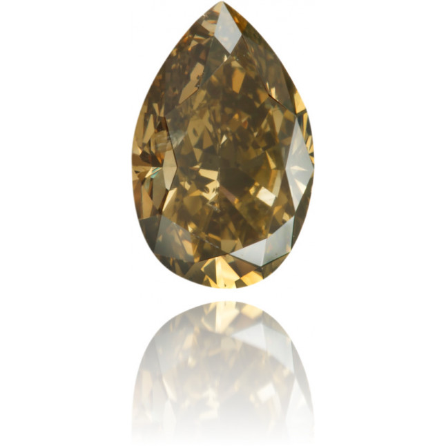 Natural Brown Diamond Pear Shape 0.61 ct Polished