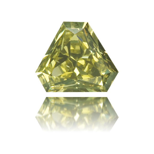 Natural Green Diamond Triangle 0.40 ct Polished