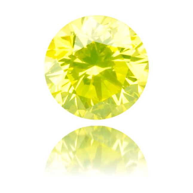 Natural Green Diamond Round 0.21 ct Polished