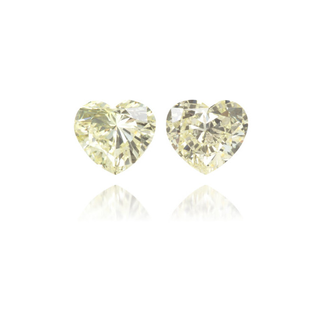 Natural Yellow Diamond Heart Shape 0.53 ct Set