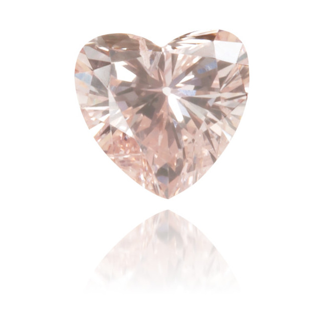 Natural Pink Diamond Heart Shape 0.12 ct Polished