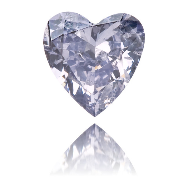 Natural Blue Diamond Heart Shape 0.16 ct Polished
