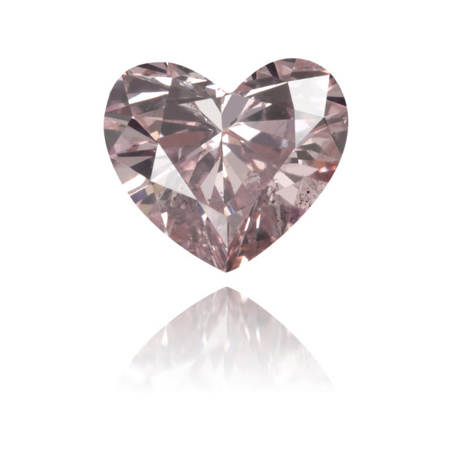 Natural Pink Diamond Heart Shape 0.88 ct Polished