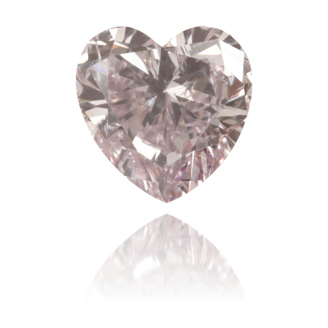 Natural Pink Diamond Heart Shape 0.55 ct Polished