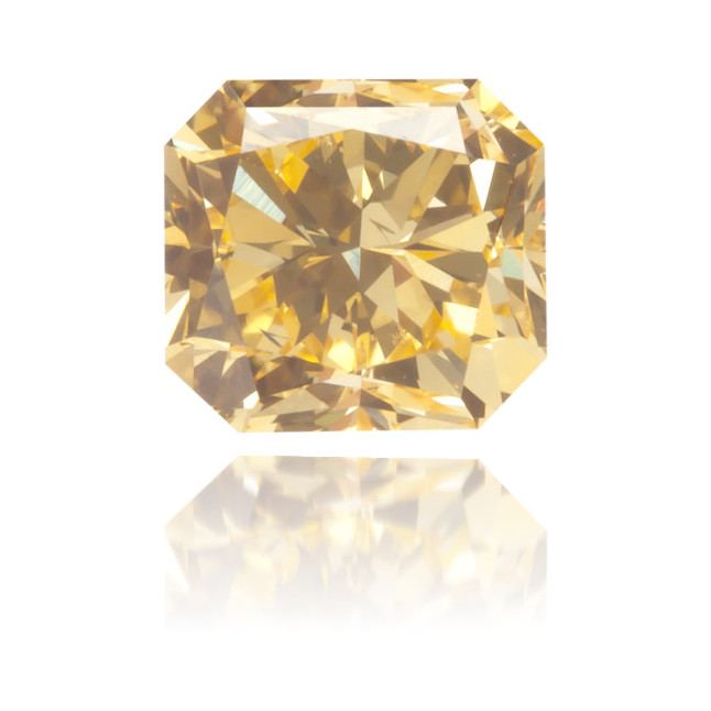 Natural Orange Diamond Square 0.44 ct Polished