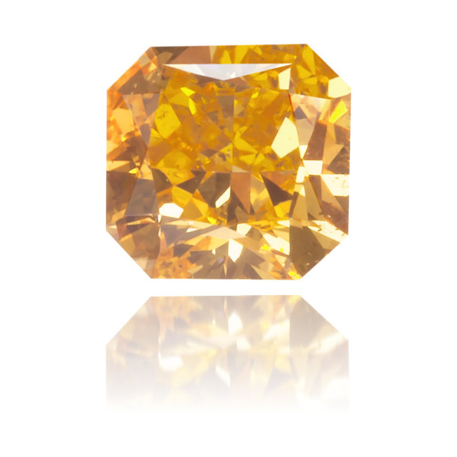 Natural Orange Diamond Square 0.23 ct Polished