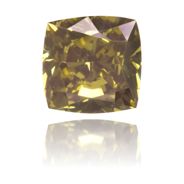 Natural Green Diamond Square 0.23 ct Polished