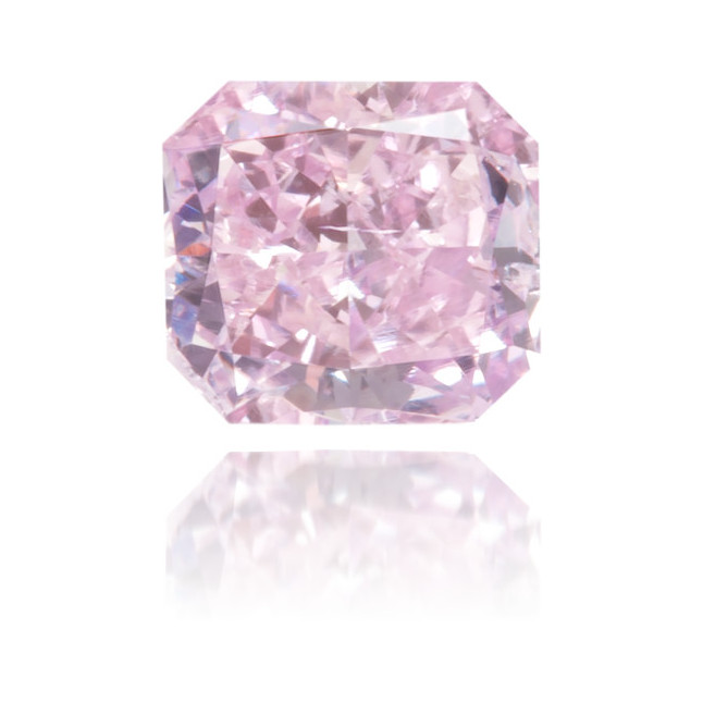 Natural Purple Diamond Square 0.25 ct Polished